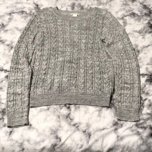 H&M woman's woven/knitted crew neck sweater